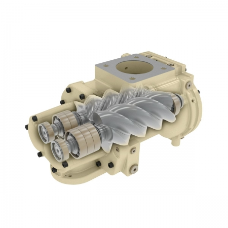 next generation rs 22-kw rotary oil flooded compressor airend cutaway la