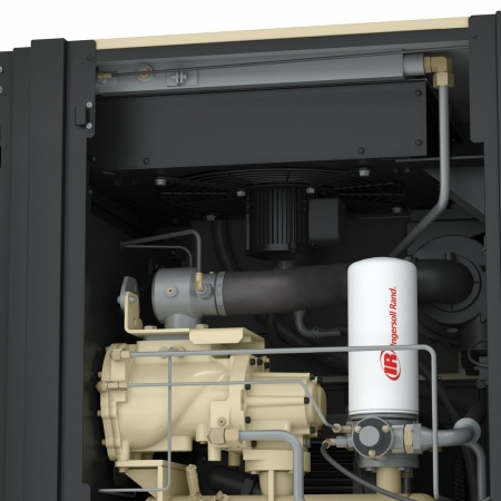 next generation rs 22ne-kw rotary oil flooded compressor cutaway coolers